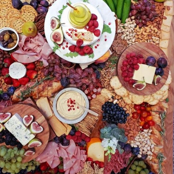 Cocktail Hour Grazing Tables & Charcuterie Boxes - full